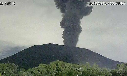 Der Vulkan brach am Donnerstag aus