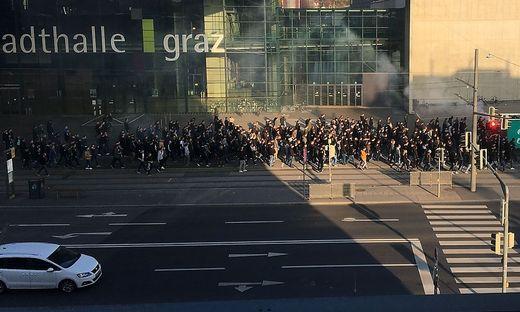 Die Sturm-Fans marschierten zum Stadion