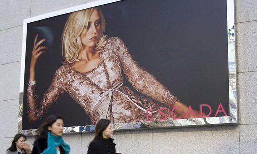 Escada-Werbung (in Shanghai)