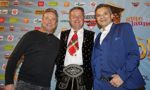 Die großen 3: Friedl Würcher, Norbert Rier, Markus Wolfahrt