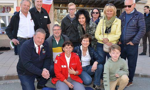 Rettungssanitäterin Anita Dörfler schulte die Bürger ein