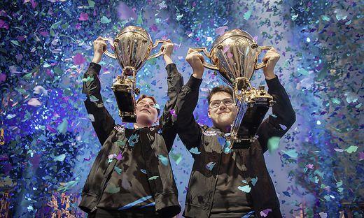 Der Norweger Emil Bergquist und der Kärntner David Wang holten sich den Fortnite-Titel im Duo-Bewerb