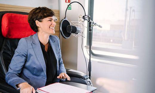 SPÖ-Chefin Pamela Rendi-Wagner im Podcast-Interview mit der Kleinen Zeitung