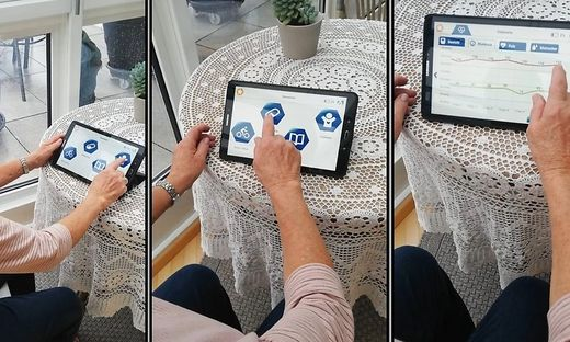 Die Tablet-App wurde gemeinsam mit den künftigen Nutzerinnen und Nutzern entwickelt. Sie hilft dabei, Vitalwerte zu überwachen