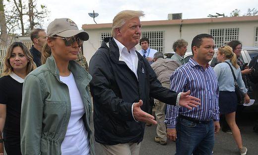 Trump beim Besuch in Puerto Rico