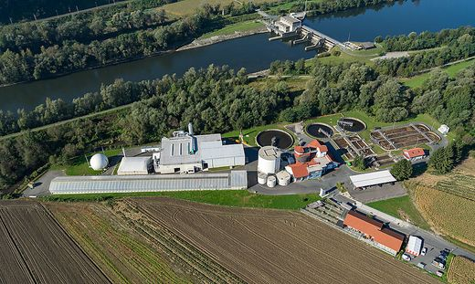 Die Naturgasanlage in Straß (linke Hälfte des Areals) soll von Saubermacher gepachtet und betrieben werden