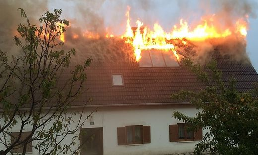 Brand in Krumegg: Verletzt wurde niemand