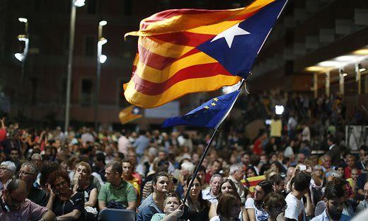 Kundgebung in Barcelona