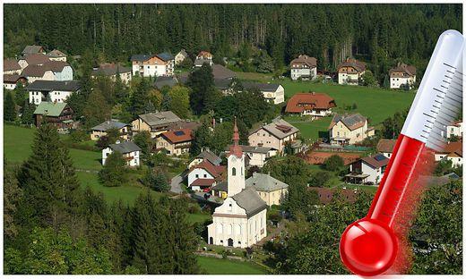Die Gemeinde Dellach im Drautal ist aufgrund seiner Lage in einem engen Tal hitzebegünstigt