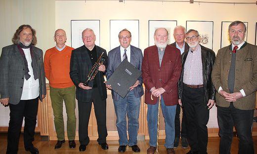 Herman Riedl, Erwin Lackner, Toni Maier, Ernst Meixner, Franz Eigner, Werner Zelinka, Franz Dampfhofer, Ernst Lasnik (von links)