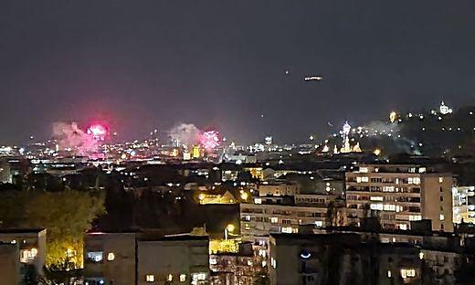 Feuerwerk Samstagnacht in Graz