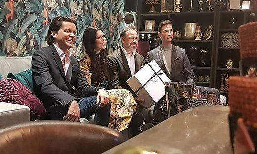 Niki Veit, Judith und Gerald Schwarz sowie Elan Sehic
