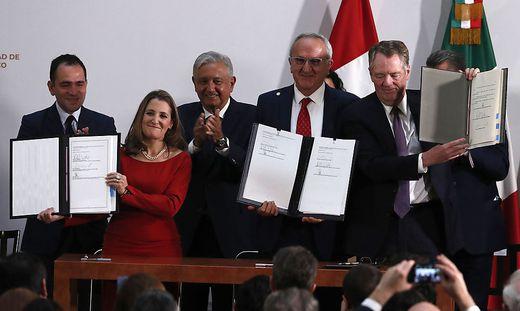 USA, Mexiko und Kanada unterzeichneten neues Freihandelsabkommen