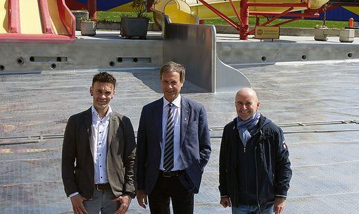 René Ranner, Fritz Kratzer und Helmut Pekler (von links)