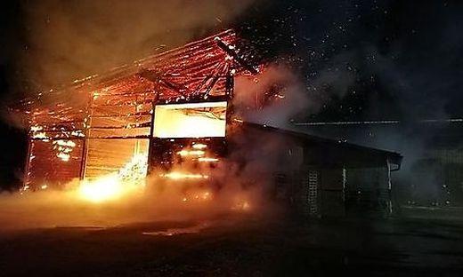 Die brennende Hackschnitzelanlage