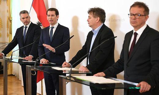 MINISTERRAT: NEHAMMER / KURZ / KOGLER / ANSCHOBER