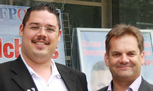 FPÖ-Obmann Harald Lederer (rechts) mit Michael Wallner