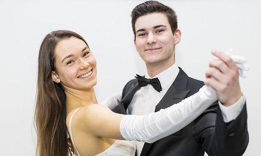 Jana Mori und Dominik Ott sind eines von vier Kärntner Paare, die den Opernball eröffnen