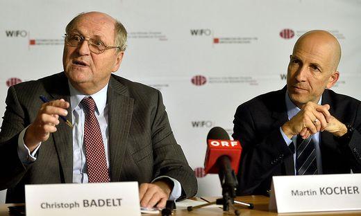 Wifo-Chef Badelt, IHS-Leiter Kocher