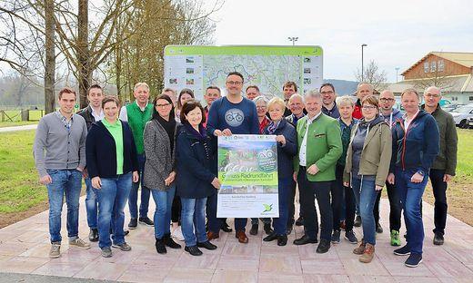 In Kaindorf wurde das neue Radwegenetz eröffnet