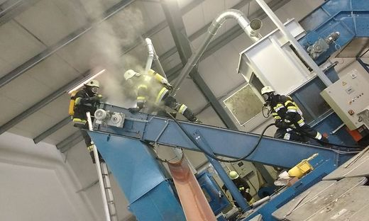 Die Feuerwehr brachte den Brand unter Kontrolle