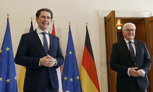 Bundeskanzler Kurz mit Deutschlands Staatspräsident Steinmeier