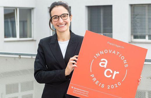 Louise Beltzung wurde für ihre Entwicklung mit dem ACR-Innovationspreis ausgezeichnet