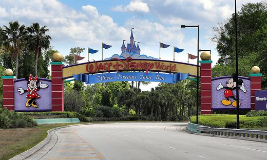 March 24, 2020, Orlando, FL, USA: An empty entrance to Walt Disney World on March 24, 2020. The NBA, Basketball Herren,