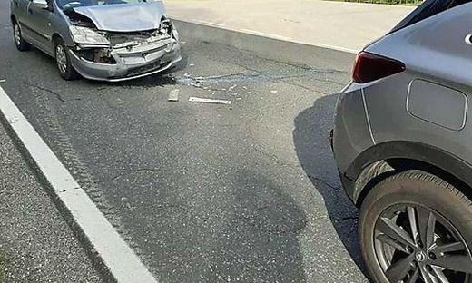 Der auffahrende Wagen musste abgeschleppt werden