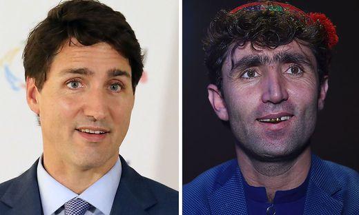 Justin Trudeau und Abdul Salam Maftun
