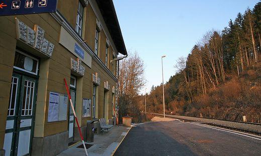 Der Bahnhof Tainach-Stein soll im Zuge der Errichtung der Koralmbahn geschlossen werden