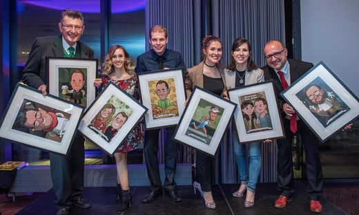 Die Köpfe des Jahres: Felix Neuherz, Carmen Palensky und Philipp Gaber, Elisabeth Parmetler und Roswitha Fauster, sowie Hannes Klapsch
