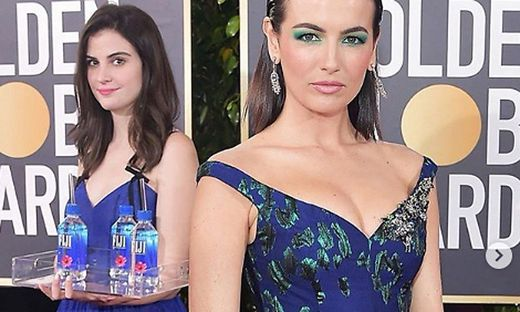 Links: Die junge Dame mit den Wasserflaschen war der heimliche Star des Abends