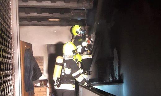 Die Feuerwehr war zwei Stunden lang im Einsatz