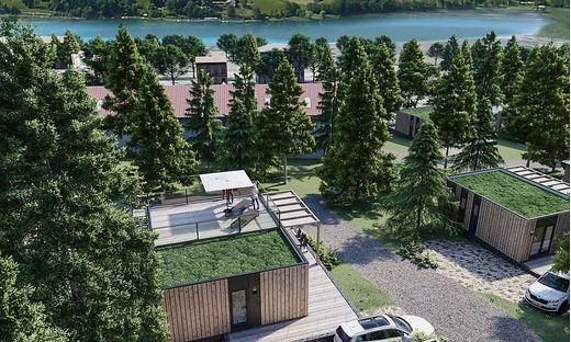 Geplante Mobilheime in einem Europarcs-Resort am Pressegger See