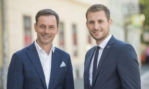 Bezirksparteiobmann Ernst Gödl (l.) und Matthias Pokorn