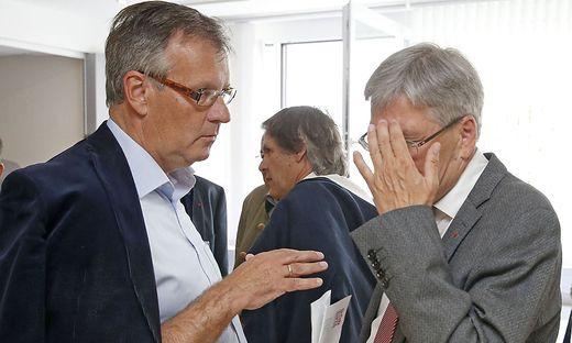 Gernot Nischelwitzer (links) mit Landeshauptmann Peter Kaiser