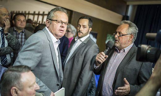 Auf Konfrontationskurs: Bürgermeister Klaus Köchl (links) und Gemeindearzt Wilfried Tomantschger