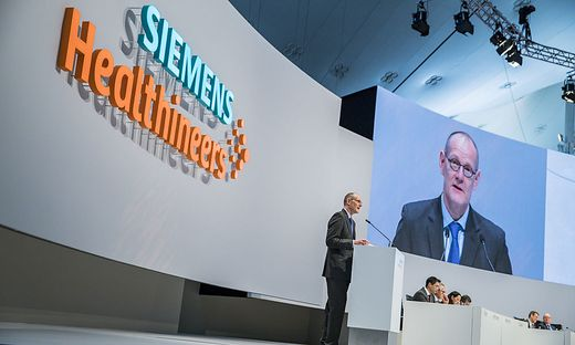 Bernd Montag, CEO der Siemens Healthineers, bei der Hauptversammlung
