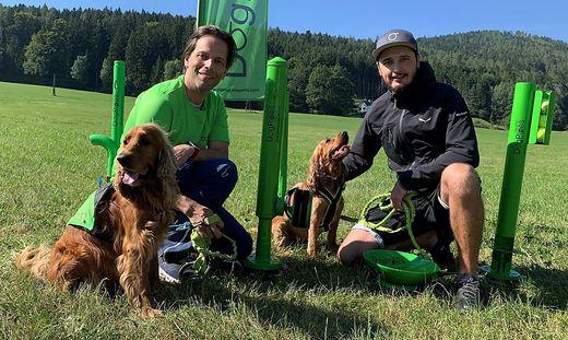 Mario Rath und Daniel Thonhofer mit ihren Hunden
