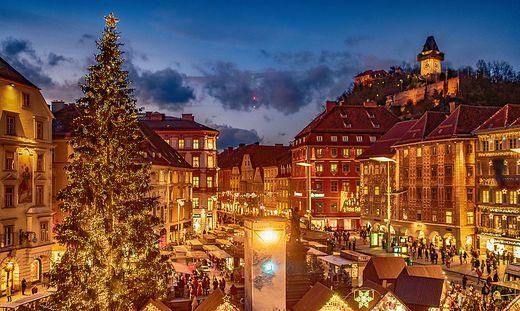 Der Grazer Hauptplatz im Advent