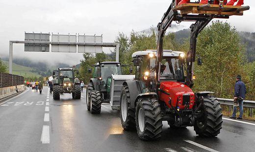 Zuletzt gingen die Bauern 2009 auf die Straße