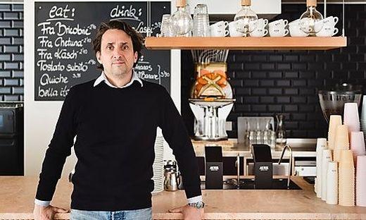 Martin Auer eröffnete am Freitag um 6.30 Uhr früh sein jüngstes Café
