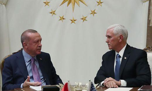 Erdogan und US-Vizepräsident Mike Pence