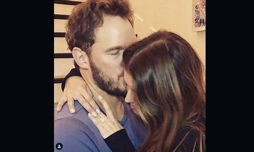 Mit diesem Foto gab Chris Pratt auf einem Instagram-Account die Verlobung bekannt