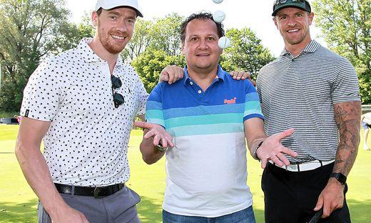 Golfer unter sich: Grabner und Raffl am Grün