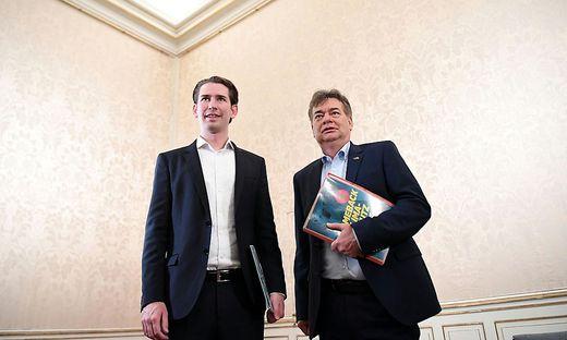 Bald Kanzler und Vizekanzler? Für Sebastian Kurz und Werner Kogler werden es noch lange Verhandlungen.