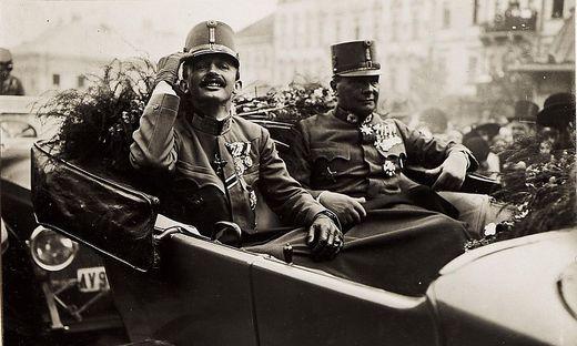 Kaiser Karl (links) schwebte ein Bund freier Nationen vor – doch das war eine Illusion
