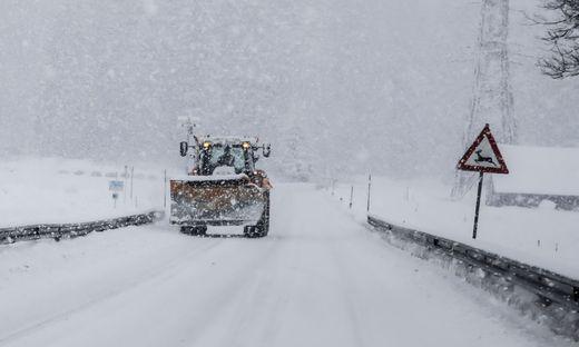 Schneewarnung für Teile von Süd- und Westösterreich