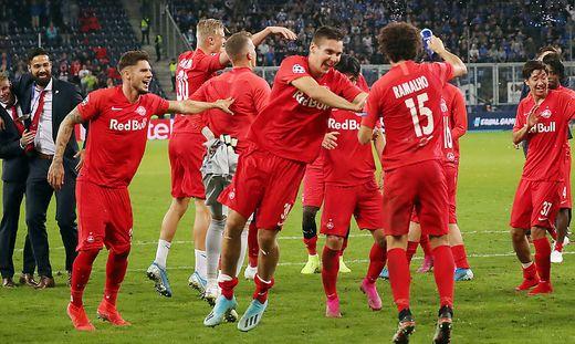 Salzburgs Fußballer sind heute an der Anfield Road gefordert